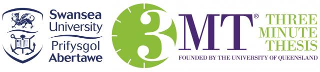 Swansea University and 3MT logo