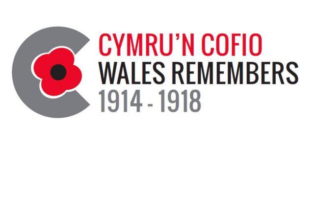 Cymru'n Cofio Wales Remembers 1914-1918 logo